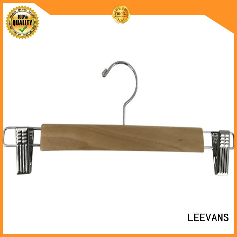LEEVANS wooden clothes hanger supplier for pants
