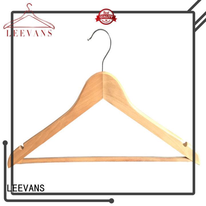 LEEVANS custom wooden cloth hanger hardwearing for trouser
