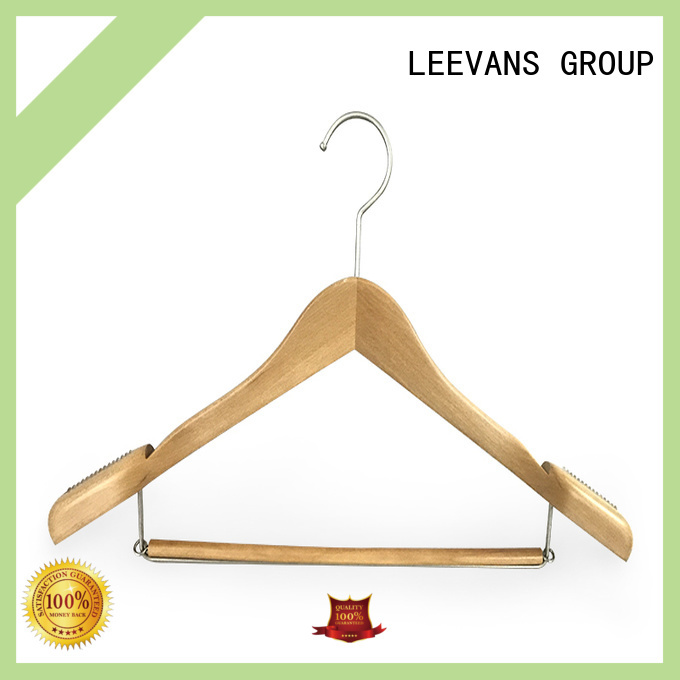 Wholesale thin wooden hangers brands Supply for skirt