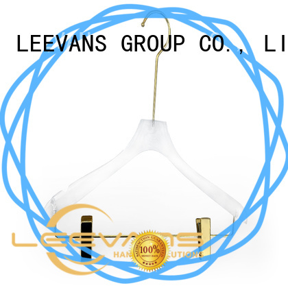 LEEVANS clear acrylic hangers manufacturer for pant