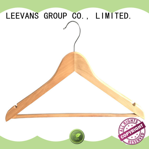 Top wooden trouser hangers with clips non Suppliers for skirt
