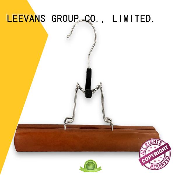 LEEVANS wooden suit hangers clips for clothes