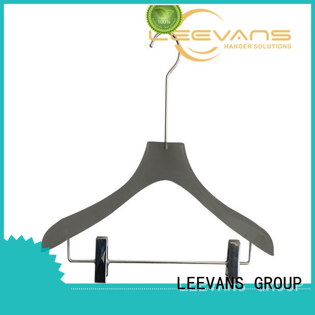 highgrade clothes hangers with clips hanger for pant LEEVANS