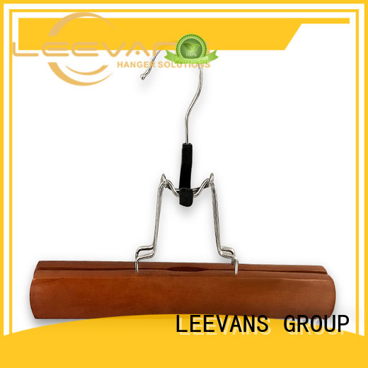 online white wooden hangers with clips wholesale for clothes