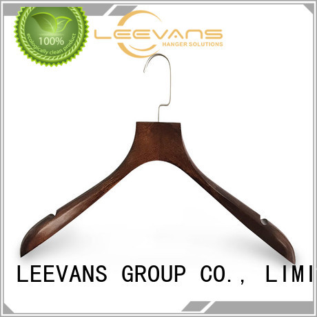 LEEVANS High-quality white wooden coat hangers Suppliers for pants