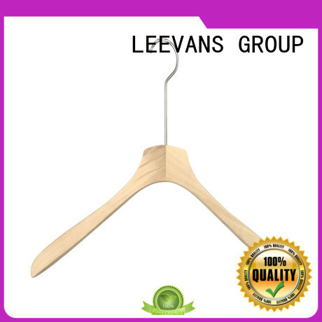 LEEVANS extension wooden coat hanger manufacturer for trouser