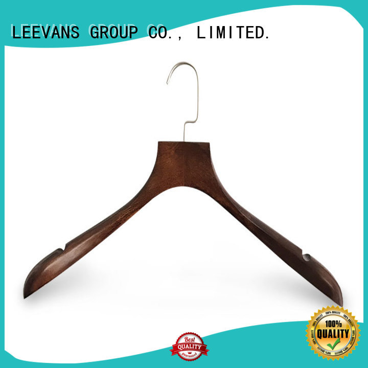 fashion black wooden hangers with clips supplier for children