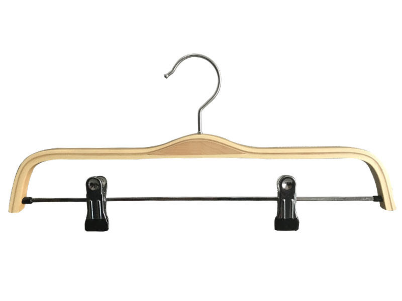 LEEVANS fashion black wooden hangers manufacturer for pants-1
