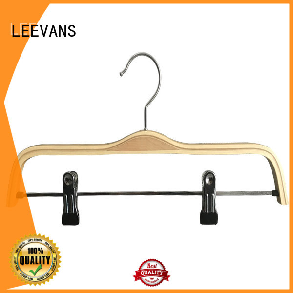 LEEVANS directly black wooden hangers wholesale for skirt
