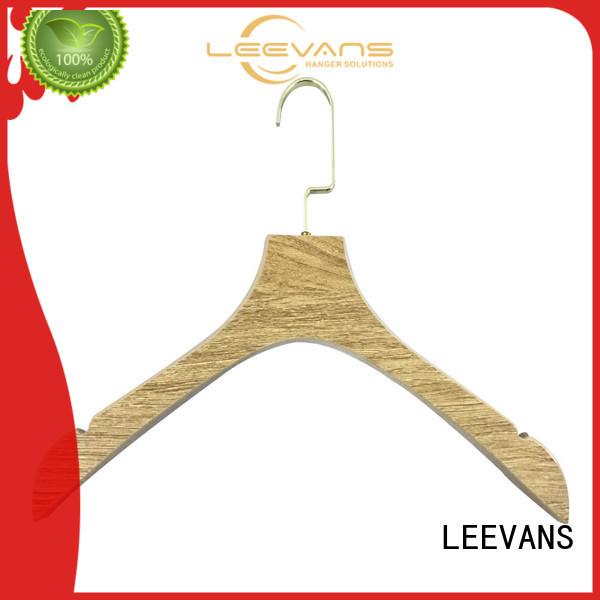 LEEVANS dark wooden jacket hangers manufacturers for kids