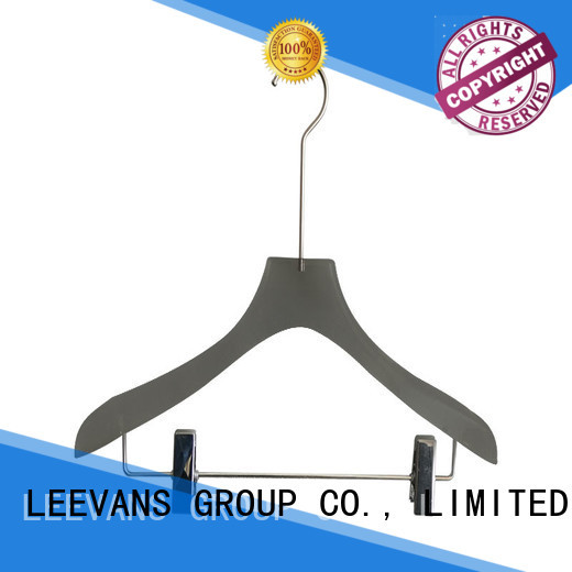 custom clothes hangers with clips luxurious supplier for suits
