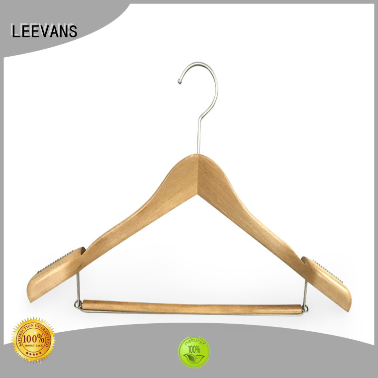 High-quality mens wooden suit hangers creamy factory for pants