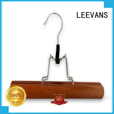 Wholesale light wood hangers painting factory for pants
