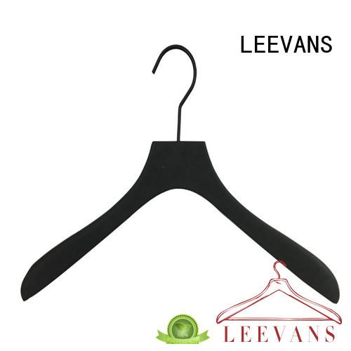 round kids wooden hangers supplier for skirt LEEVANS