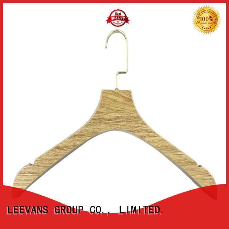 LEEVANS locking quality wooden hangers for business for pants
