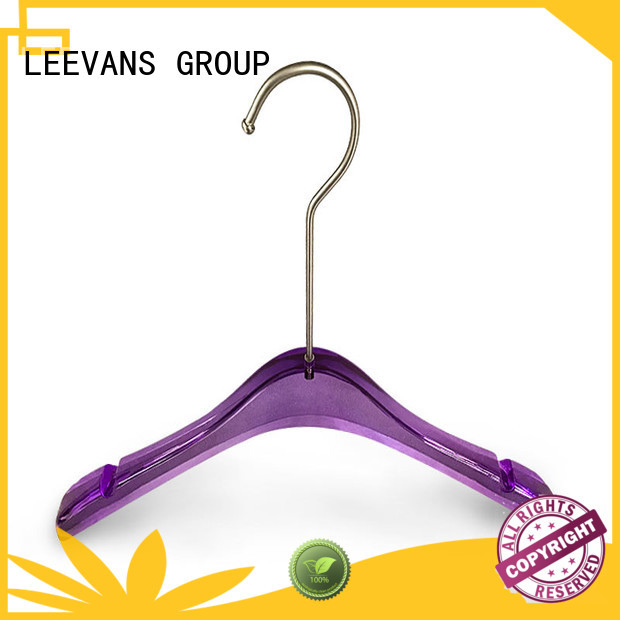 Custom clear acrylic hangers metal Suppliers for jackets