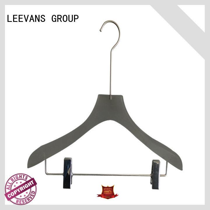 LEEVANS logo black coat hangers manufacturers for sweaters