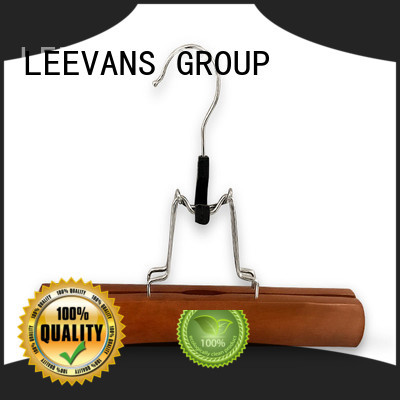fashion quality wooden hangers with metal hook for trouser