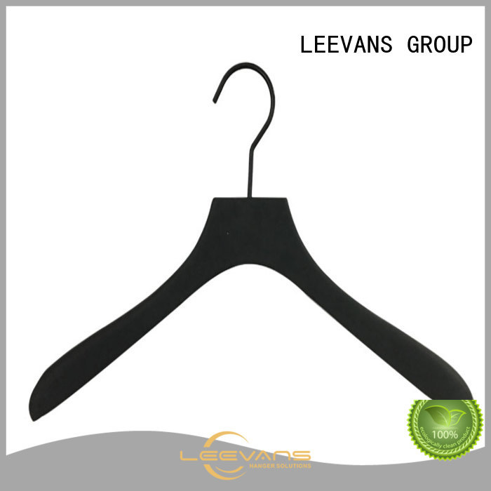 LEEVANS wood childrens wooden hangers supplier for pants