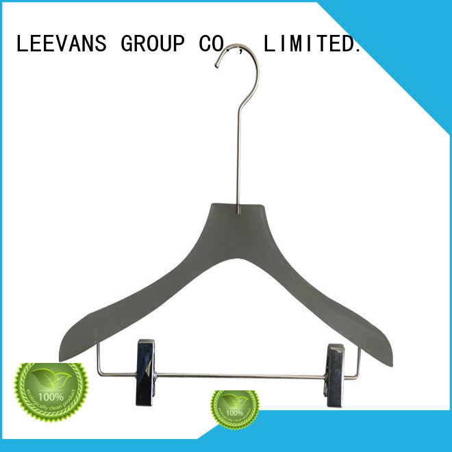 LEEVANS high grade acrylic coat hangers with wide shoulder for sweaters
