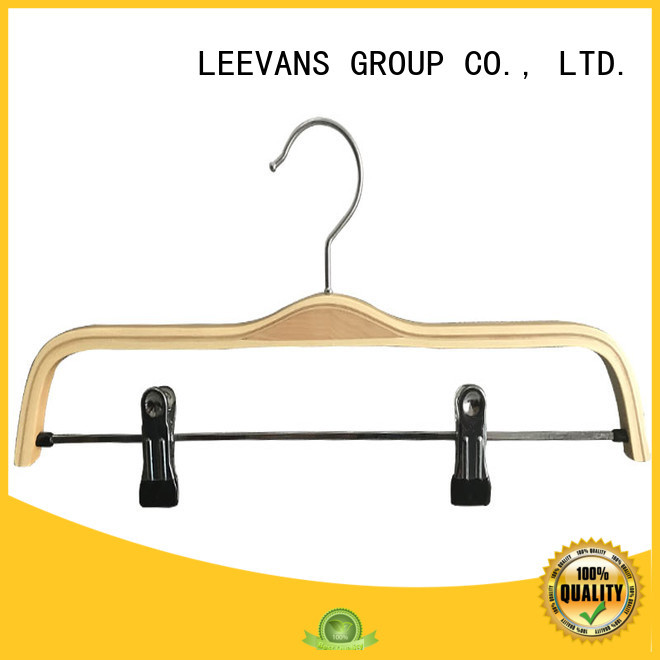 kids white wooden hangers luxury  for children LEEVANS