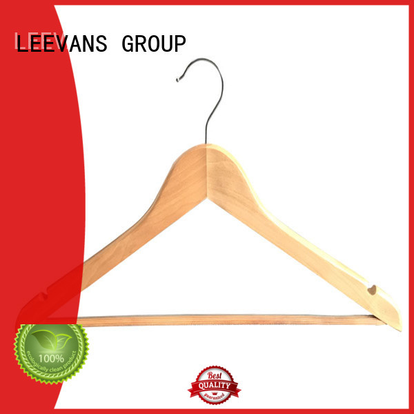 LEEVANS Top wooden cloth hanger manufacturers for pants