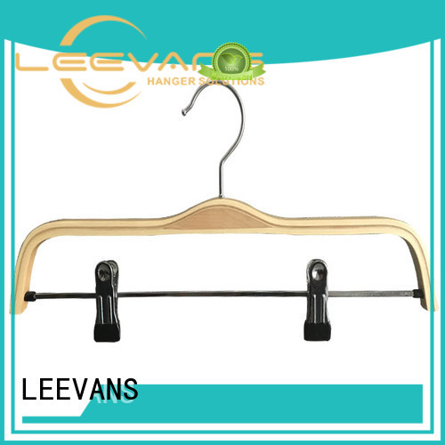 LEEVANS pants custom wooden hangers manufacturer for children