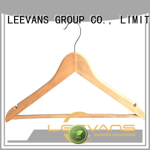 LEEVANS New thin wooden hangers company for trouser
