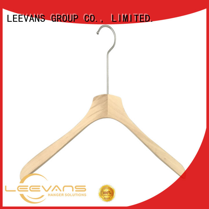 online engraved wooden hangers supplier for pants LEEVANS
