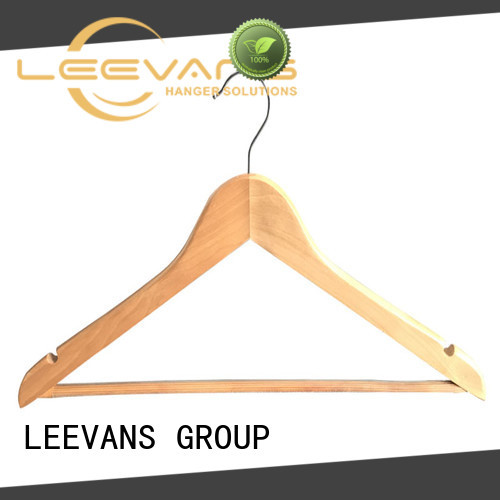 LEEVANS online dark brown wooden hangers supplier for clothes