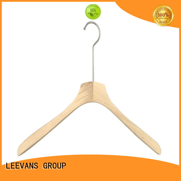LEEVANS Custom wooden laundry hanger Suppliers for clothes