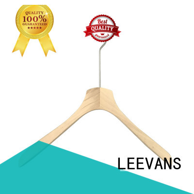 clips curved wooden hangers luxury for clothes LEEVANS