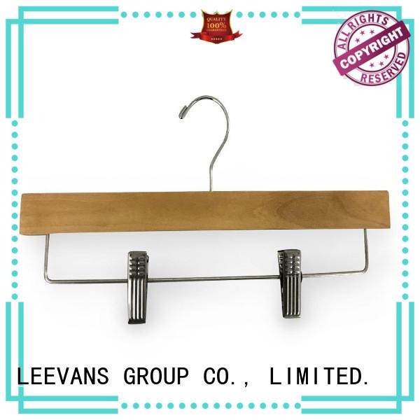 Top wooden coat hangers with clips antirust Supply for children