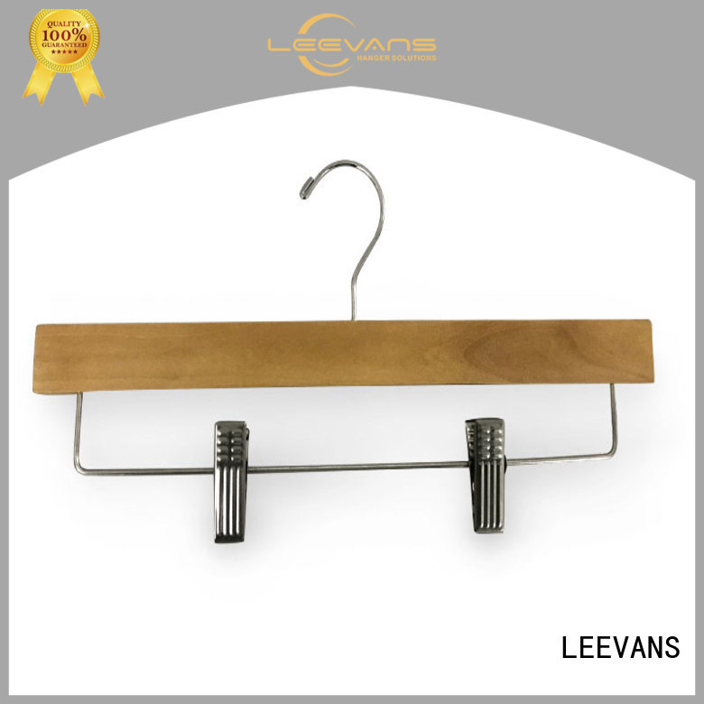 LEEVANS online wooden skirt hangers manufacturer for kids