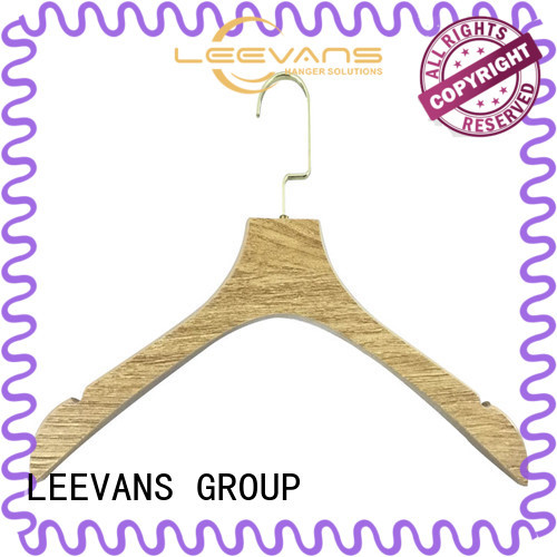 LEEVANS finish wooden suit hangers wholesale Suppliers for children