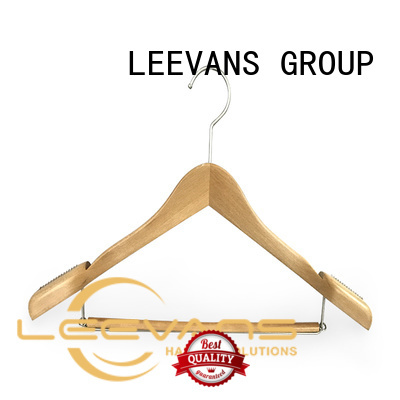 Wholesale wooden clip hangers solid manufacturers for skirt