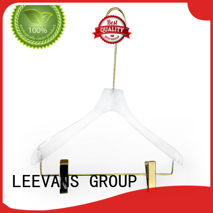 LEEVANS fashion acrylic hanger wholesale plexiglas for jackets