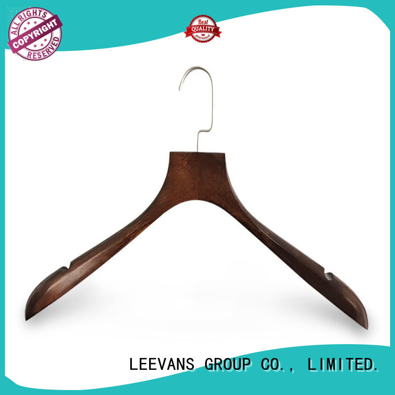 sale kids wooden hangers brown for skirt LEEVANS