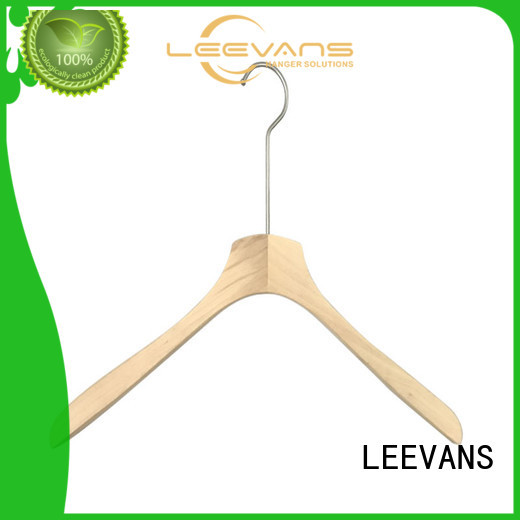 LEEVANS non dark wood coat hangers for business for children