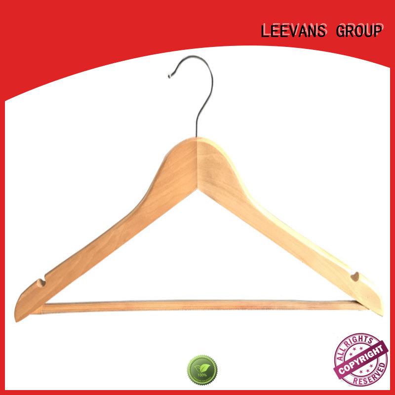 hot sale wooden hanger metal with metal hook for trouser