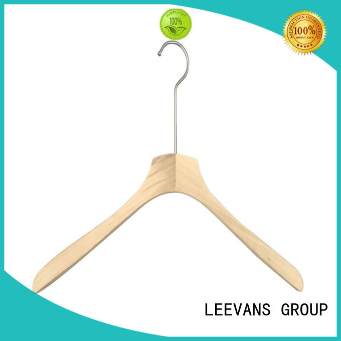 LEEVANS New dark wood coat hangers Supply for pants