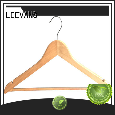 LEEVANS personalised small wooden hangers company for pants