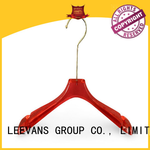 LEEVANS hot sale white coat hangers manufacturer for jackets