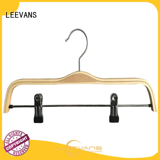 Top wooden suit hangers with clips directly for business for clothes