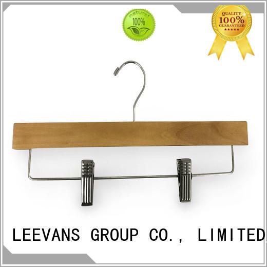 LEEVANS ultra dark wood hangers company for trouser