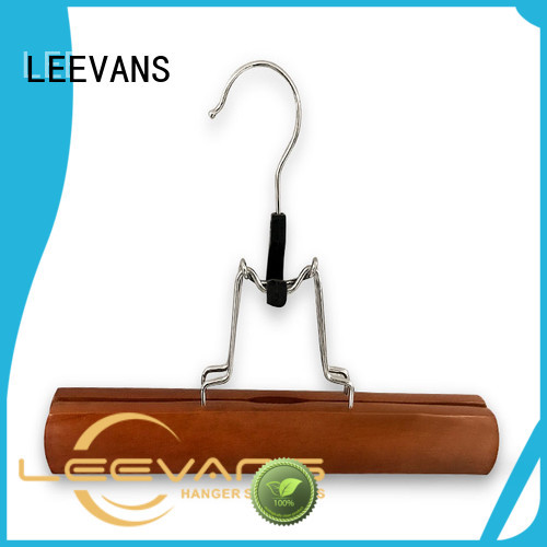 LEEVANS New black wooden coat hangers Supply for trouser