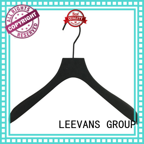 wooden coat hangers wholesale brown for kids LEEVANS