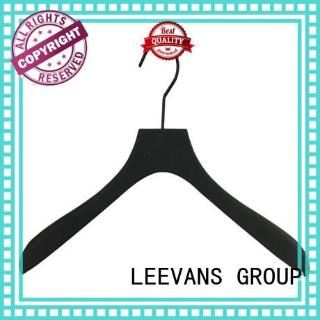 wooden coat hangers wholesale brown for kids LEEVANS