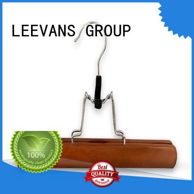 LEEVANS Top wooden closet hangers factory for children