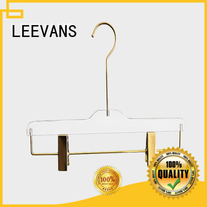 LEEVANS oem best clothes hangers perspex for casuals